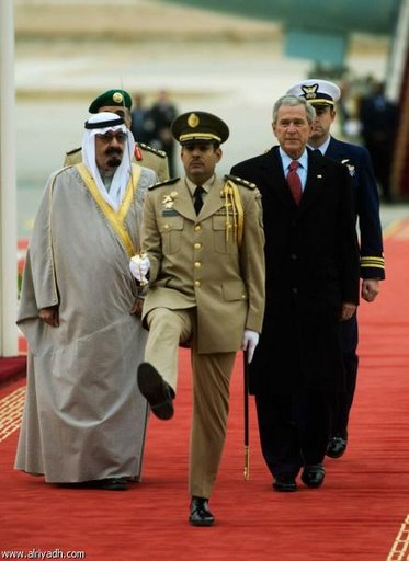 Bush and the Goose STepping Saudis