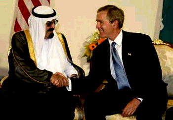 Bush w King Abdullah