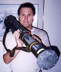 Randy Glass, holding Stinger missile. Aug 17, 1999: Arms Merchants Seek Nuclear Materials in US; Report Is Sanitized